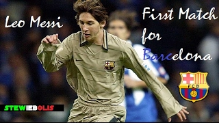 Lionel Messi ● First Match for F.C. Barcelona ● HD #Messi