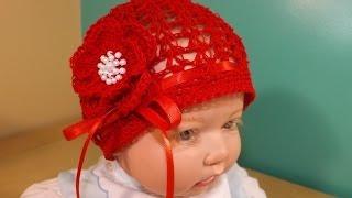 getlinkyoutube.com-Crochet Gorrito De Verano Para Bebe'