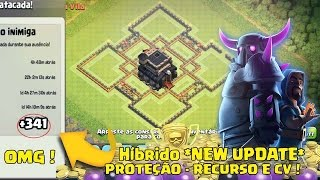 getlinkyoutube.com-MELHOR LAYOUT HÍBRIDO CV9 | DEFESA CENTRO DE VILA E RECURSOS *NEW UPDATE* CLASH OF CLANS
