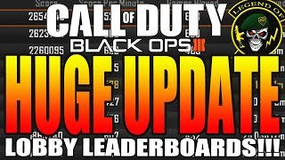 Call Of Duty: Black Ops 3 - Huge Update! BO3 Lobby Leaderboards Back In Multiplayer!