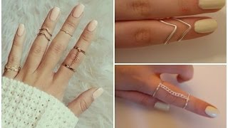 getlinkyoutube.com-DIY easy rings ♡