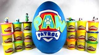 getlinkyoutube.com-Гигантское яйцо Собачий Патруль. Открываем яйцо ПЛЕЙ ДО Собачий патруль Paw patrol