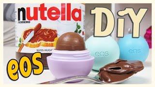 getlinkyoutube.com-Eos Nutella Lip Balm - How to make ! - Easy und lecker !
