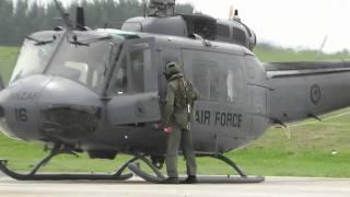 getlinkyoutube.com-RNZAF NZ3816 BELL UH-1 HUEY START UP  & DEPART.