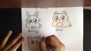 getlinkyoutube.com-How to draw 3 cute chibi animals!