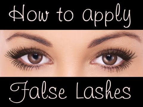 Easy tutorial : How to apply false eye lashes (free brushes)