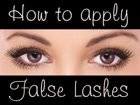 Easy tutorial : How to apply false eye lashes (free brushes)