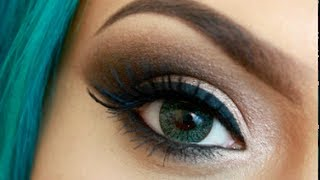 Smokey Eyes Ojos Ahumados usando solo Una Brocha | Sigma Review | LoLo Love