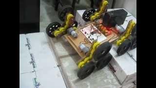 getlinkyoutube.com-Development of Stair climbing robot with start wheels