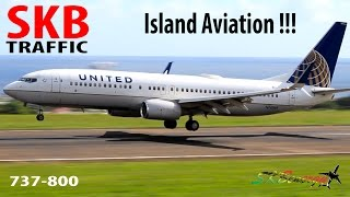 getlinkyoutube.com-United Airlines 737-800 making its way into St. Kitts from Newark Liberty Int'l Airport