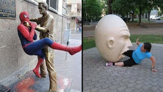 The Most Amazing People Who Pose Different With Sculptures