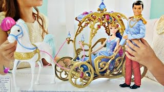 getlinkyoutube.com-Cinderella Horse and Carriage / Magiczna Karoca Kopciuszka - Disney Princess - Mattel - CDC44
