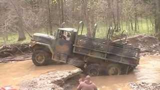 getlinkyoutube.com-Military 6x6 truck tries the waterfall  DTOR - Birthday Bash III