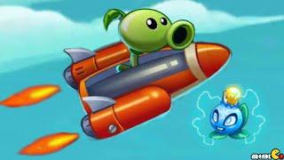 getlinkyoutube.com-Plants Vs Zombies 2: NEW Plant Electric Blueberry Sky Castle Star War Mini Games ! (PVZ 2 China)