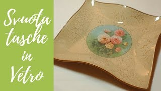 getlinkyoutube.com-Tutorial: Svuotatasche di vetro con decoupage e cracklè (glass coin tray in decoupage) [eng-sub]
