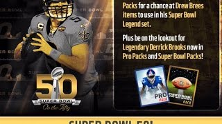 Drew Brees Super Bowl Legend Madden Mobile Live Event - On The Fifty Update
