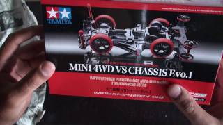getlinkyoutube.com-Tamiya 94734 Mini 4WD VS Chassis Evo. I  Unboxing