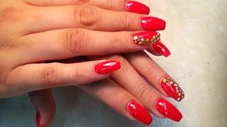 getlinkyoutube.com-The Red Hot Virgin, A-Z Acrylic Finger Nails Polish.