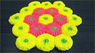 getlinkyoutube.com-Коврик крючком из мотивов витыми столбиками (rug crochet)