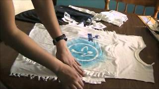 getlinkyoutube.com-How to cut a Zumba t-shirt into a halter top.