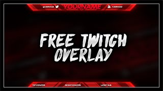 getlinkyoutube.com-FREE Twitch Overlay Template PSD - Free Download - Free GFX
