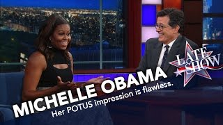 First-Lady-Michelle-Obama-Does-Her-Best-Barack-Impression width=
