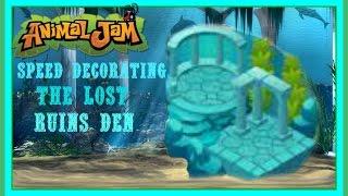 getlinkyoutube.com-Animal Jam: Speed Decorating The Lost Ruins Den