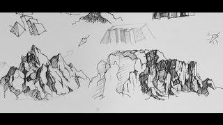 getlinkyoutube.com-Pen & Ink Drawing Tutorials | How to to draw mountains