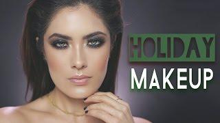 getlinkyoutube.com-Emerald Green Holiday Makeup - ALL DRUGSTORE | Melissa Alatorre