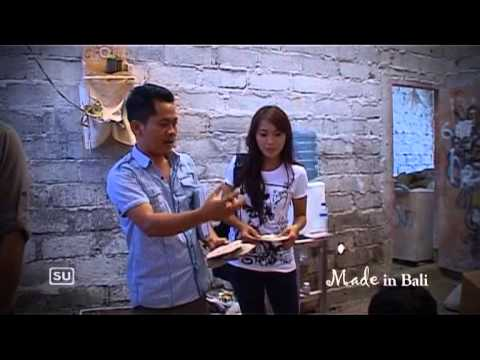( PART 3 ) caspla bali seashell on local dewata tv at bali programe tv art and crafts