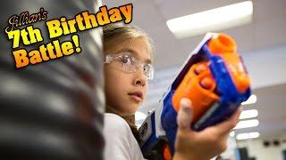 getlinkyoutube.com-Jillian's 7th Birthday Battle! KARATE KICKS, PUNCHES & NERF WAR!