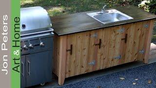 getlinkyoutube.com-How to Build an Outdoor Kitchen Cabinet