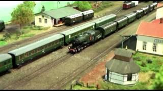getlinkyoutube.com-German WWII HO Model Train Layout Deutsche Reichsbahn Modellanlage