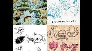 Embroidery   تعليم التطريز اليدوى وشرح للغرز الاساسية مع تصميمات مطرزة