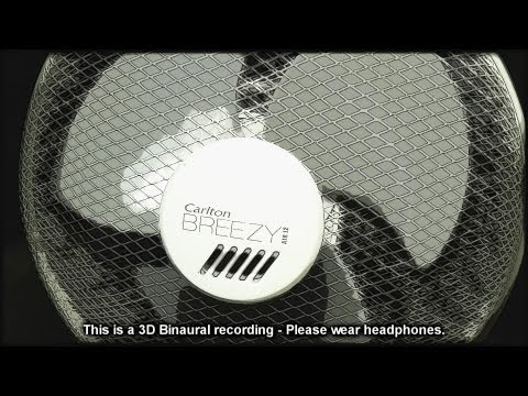 73. 3D Oscillating Fan - 30 Minutes of White Noise - SOUNDsculptures (ASMR)