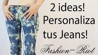 getlinkyoutube.com-DIY 2 Ideas para personalizar tus jeans (ACID WASH - TIE-DYE)