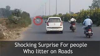 getlinkyoutube.com-SURPRISE FOR PEOPLE LITTERING ON ROADS | TST Video
