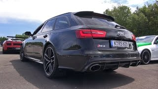 getlinkyoutube.com-Audi RS6 Avant C7 vs Nissan GTR vs BMW M5 Dinan vs C55 AMG