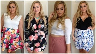 getlinkyoutube.com-Plus Size Summer Haul + Try-On | Rompers, Shorts, Crop Tops & More!