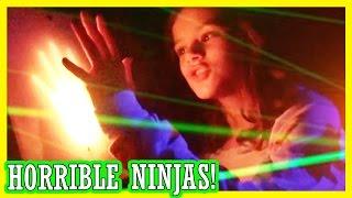 getlinkyoutube.com-HORRIBLE NINJAS! | LASER MAZE AT THE ARCADE & THE NEW SPONGEBOB MOVIE! | KITTIESMAMA