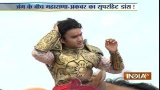 India TV on the set of TV serial Maharana Pratap