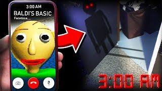 I SUMMONED BALDI IN REAL LIFE AT 3:00AM! **TERRIFYING**