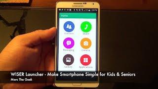 getlinkyoutube.com-Wiser Launcher - Make Smartphone Simple for Kids & Seniors