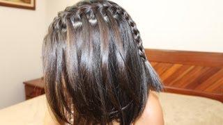 getlinkyoutube.com-Trança cascata em cabelo curto