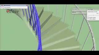 How to Make Helical Staircase in SketchUp? ... كيفية عمل السلم الدائري في برنامج سكتش أب؟