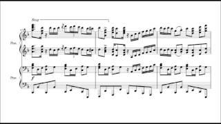 getlinkyoutube.com-千本桜 ピアノ連弾/楽譜付き