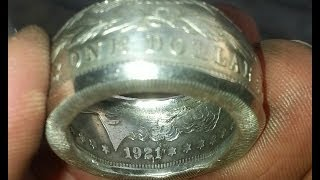getlinkyoutube.com-Bending the fat end on your coinring coin ring