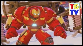 getlinkyoutube.com-Hulk Buster Iron Man Races in Toy Box Speedway | Disney Infinity