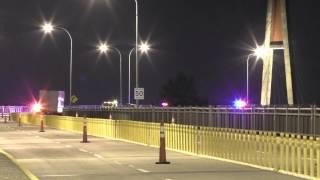 Pattullo Bridge Closed Car Accident Rollover September 6 2014 Panasonic