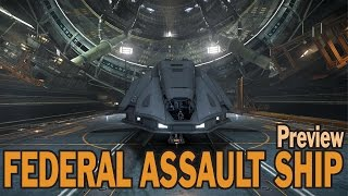 getlinkyoutube.com-Elite: Dangerous. Federal Assault Ship Review. CQC 1.4 update